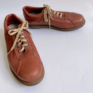40 CAMPER MENS SHOES LEATHER RED BROWN